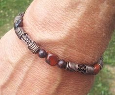 Mens Copper Viking Knit Bracelet  PRICE REDUCED 5 by NorseFindings, $30.00