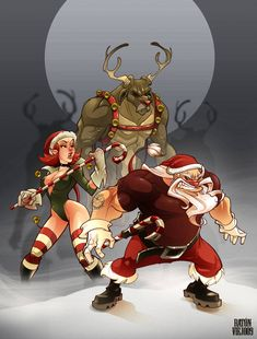 Originally posted by ddgirls at Art by Luis Manuel Tomorrows wallpaper Naughty Santa, Naughty Christmas, Dark Christmas, Christmas Art, Christmas Humor, Christmas Cartoons, Character Art, Character Design, Rockabilly