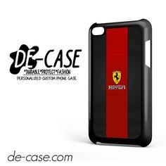 Ferrari Logo Red Black Design For Ipod 4 Case Phone Case Gift Present