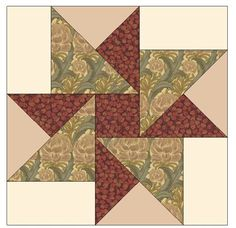 Barbara Brackman's MATERIAL CULTURE: Morris Modernized: Hope of Hertfordshire Quilt Pattern