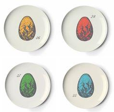 Set of Four Ornithology Coaster Dishes