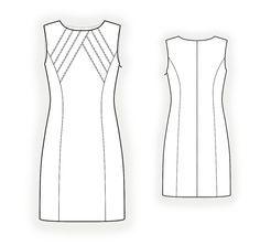 Vestido com corpete decorativa - costura padrão # 4347. Feito sob medida padrão de costura de Lekala com download online gratuitamente.