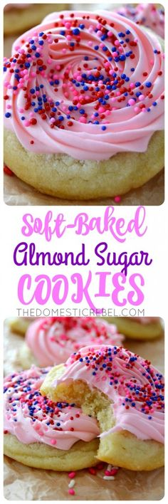 These Soft-Baked Almond Sugar Cookies are irresistibly soft, tender and so easy to make! Keep this recipe for any special occasion when you're craving buttery, sweet almond sugar cookies!
