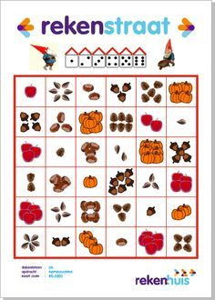 Gratis downloaden: Rekenstraatje herfstvruchten Subitizing, Illustrations And Posters, Math Centers, Teaching, Circuit, Autumn, Dyscalculia, Mushroom, Sheet Music