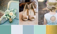 Duck Egg Blue & Glistening Gold - An Enchanted Colour Palette