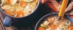 Sopa Sustanciosa de Pollo y Arroz