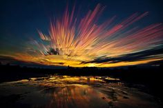 After Burn - Matt Molloy is an artist, musician and photographer who has a brilliantly unique and artistic style of smearing sunsets and skies together by photo stacking multiple time-lapse images.