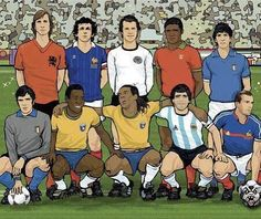 11 of the best players of all time! Can you name them? #supporterspro #football #soccer #futbol #soccerlovers #footballlovers