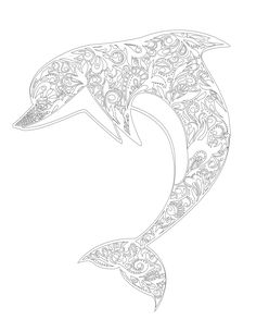 Free Adult Coloring Book Images by Blue Star Coloring Books. Simply print, color, and relax! For more images like this one, purchase our Adult Coloring Book: Stress Relieving Dolphin Patterns. #adultcoloringbook #coloringbook #art #DIY #craft