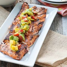 Double tap and tag some friends for more recipes! #fitness_meals . Blackened Salmon with Mango-Avocado Salsa Credit: @againstallgrain - Ingredients: 1½ to 2 pounds wild salmon fillets, boneless and skin on 3 teaspoons olive oil 1 garlic clove, crushed 1½ tsp paprika 1 tsp sea salt ½ tsp onion powder ½ tsp oregano ½ tsp cumin ½ tsp chili powder ½ tsp cracked pepper ¼ tsp thyme ¼ tsp cayenne ••• For the Mango-Avocado Salsa: 1 large ripe mango, seeded, peeled and diced 1 large avocado, seeded…