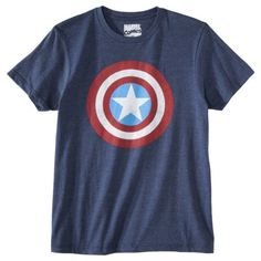 Captain America Men's Logo Graphic Tee - Blue - want it!