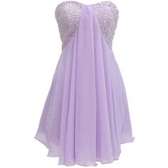 Dressystar Short Lilac Prom Evening Prom Dresses ($154) found on Polyvore