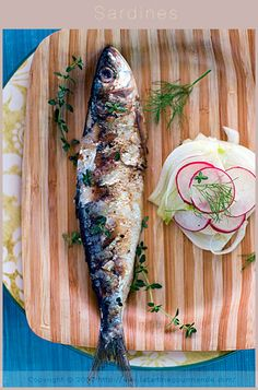 Grilled Sardines with Marinated Fennel and Radish