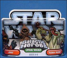 Star Wars: Galactic Heroes Jawa and Tusken Raider by Hasbro