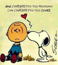 Snoopy loves Charlie Brown so very Christmas Comics, Christmas Dog, Christmas Humor, Funny Love, Funny Kids, Lucy Van Pelt, Italian Quotes, Feelings Words, Special Words