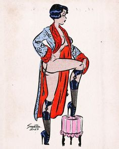 Vintage Comics, Vintage Art, Vintage Style, Pin Up Drawings, Comic Style Art, Estilo Pin Up, Retro Housewife, Pulp Art, Pin Up Art