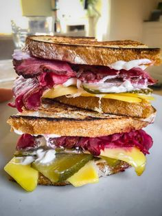 Vegan pastrami slices made from roasted celeriac. Perfect for a plant-based reuben sandwich or served as a carving board with your fave pickles! The post Vegan Pastrami Slices appeared first on School Night Vegan.