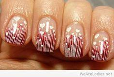 Nail art Valentine's