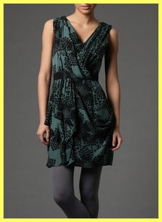 NWT $368 TIBI FILIGREE GODDESS GREEN BLACK DRAPED SILK CREPE DRESS Sz 8 6 M S #Tibi #Sexy