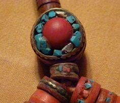 Coral/Turquoise mala from Nepal