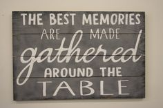 """This is a pallet sign that is available in two different sizes - 24"""" x 16"""" or 30"""" x 20"""". The background is Gray. Lettering is White.This piece is handpainted and sanded for a distressed/vintage look. It is then sealed with water based varnish. The back is left unfinished and comes ready to hang."""