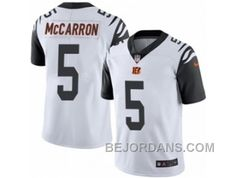 http://www.bejordans.com/free-shipping-60-off-mens-nike-cincinnati-bengals-5-aj-mccarron-limited-white-rush-nfl-jersey.html FREE SHIPPING ! 60% OFF! MEN'S NIKE CINCINNATI BENGALS #5 AJ MCCARRON LIMITED WHITE RUSH NFL JERSEY Only $20.00 , Free Shipping!