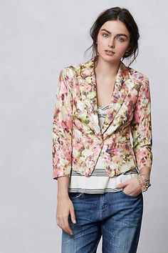 ayora floral brocade jacket #flowershop #anthropologie