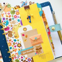 pocketfulofsparkles: So excited, I'm finally done dressing up my Kikki for the fall! I made her dashboards using @doodlebugdesign paper. #pocketfulofsparkles #doodlebug #doodlebugdesign #pengems #kikkik #plannercommunity #plannerclips