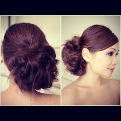 """Bridal Messy Side Bun Hair Tutorial.. This should have one of those Staples """"Easy"""" button... it really is that easy!!!"""