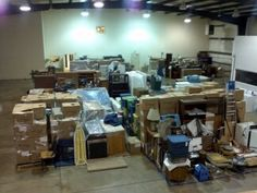 Our warehouse. We can inventory, pack out, clean, deodorize, store, and pack back your contents after a fire. 888-364-1188