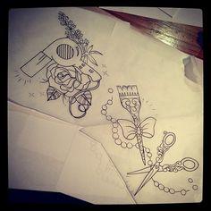 hairdresser tattoo | Tumblr
