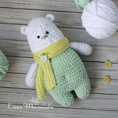 Полярный мишка Архип. Бесплатная схема для вязания игрушки. FREE amigurumi pattern. #амигуруми #amigurumi #схема #pattern #вязание #crochet #knitting #мишка #медведь #медвежонок #bear