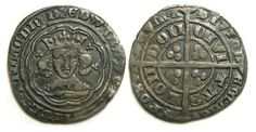 This is an English Medieval Groat from the reign of Edward III. A Groat was worth 4 silver pennies. As time passed, trade grew and many countries and duchies minted coins of greater value to make it easier to trade and carry coins.