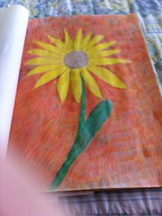 The Sunflower  Colored Pencil Drawing  By Creative Artistry by Christina V Saunders