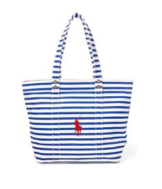 48f9aa7a88 Borsa Polo Ralph Lauren v92xz95pxy95p xw8v3 pp tote canvas blue white h  32cm L44cm spring summer. Striped CanvasTimeless FashionShopping BagPolo ...