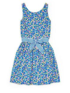NWT Ralph Lauren Girls Blue Striped Fit /& Flare Party Dress 2//2t 3//3t 4t NEW $70