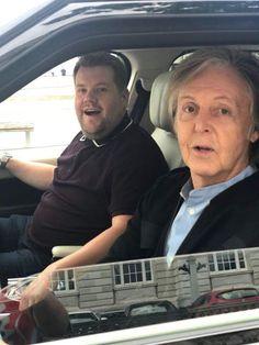 James Corden persuades Sir Paul McCartney to appear on Carpool Karaoke Sir Paul McCartney and James Corden filmed a special edition of Carpool Karaoke in Liverpool at the weekend Paul Mccartney, Celebrity Photos, Celebrity News, Celebrity Babies, Celebrity Style, Singing In The Car, Photo Souvenir, Les Beatles, Sir Paul