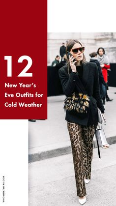 Cool New Year's Eve outfits for cold weather