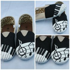 Musical hand painted shoes