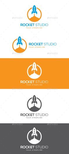 Rocket Studio Logo — Vector EPS #flame #web • Available here → https://graphicriver.net/item/rocket-studio-logo/10299623?ref=pxcr