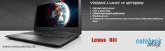 Lenovo IdeaPad U41-70 - Elegantný 1,6kg ultrabook so 14 palcovým LCD, krorý oceníte pri častom prenášaní.
