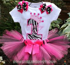 First Birthday Outfit Zebra 1st Birthday by BowsNBlingBoutique, $49.99