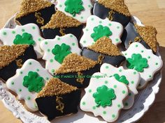 St Patricks Day Cookie Assortment 1 dozen by TheFancyLadyGourmet, $30.00