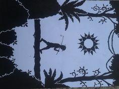 gambar dekoratif. tinta bak