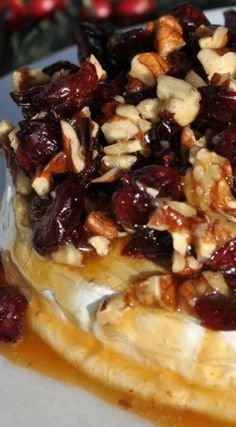 Caramel Nut and Cranberry Brie Appetizer