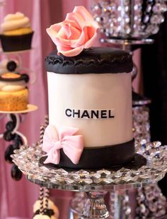 Another gorgeous Chanel birthday cake! So beautiful! See more ideas and share yours at CatchMyParty.com