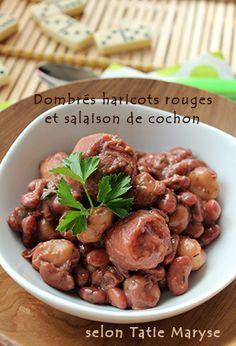 Tatie Maryse : dombrés haricots rouges et queue cochon
