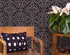 Batik africain Allover mur Tribal Stencil par royaldesignstencils