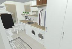 Tilaa vaatepuihin ripustetuille paidoille, myös altaan päälle! Mudroom, Washing Machine, Laundry, Home Appliances, Ideas, Laundry Room, House Appliances, Appliances, Thoughts
