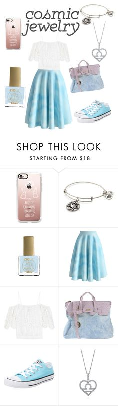 """""""Libra"""" by chemicalrainbows ❤ liked on Polyvore featuring Casetify, Alex and Ani, ncLA, Chicwish, Ganni, Secret PonPon, Converse, BERRICLE, contestentry and libra"""